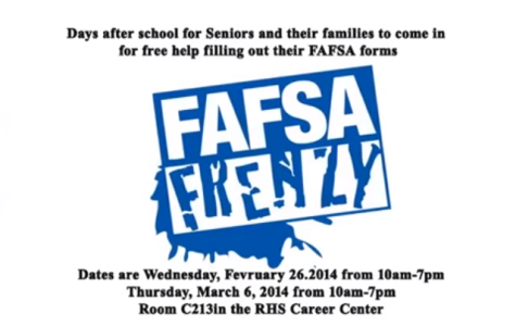 WEB: FAFSA Frenzy Event To Help Seniors