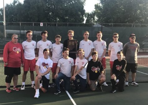 Boys tennis earns fifth straight sectional title
