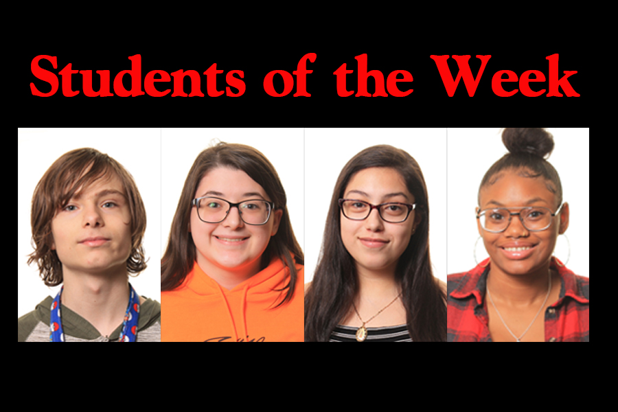 The nominated students from each grade for Students of the Week