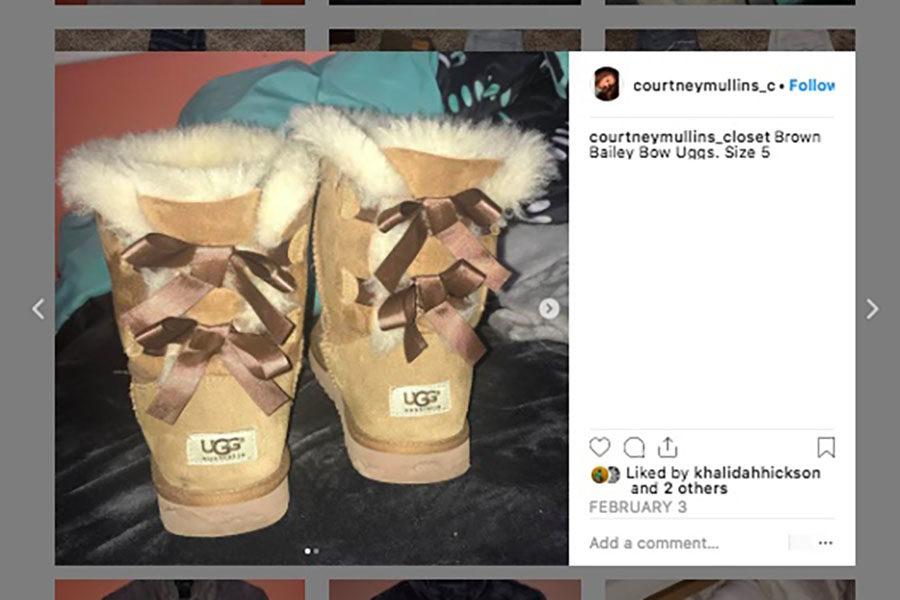 Here is an example of an Instagram closet sale from Courtney Mullin's. Mullins has pictures posted with the size and description.