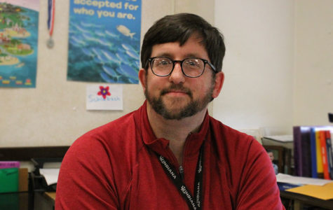 Social studies teacher Joel Schlabach