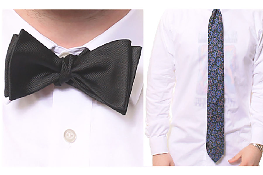 How to tie a long tie and bow tie