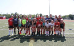 Girl's soccer team practices for new season