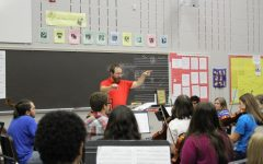 Orchestra set with changes with new director