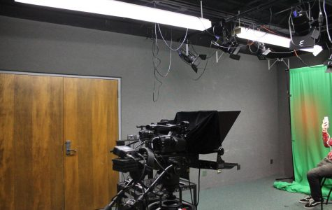 "The equitment above is used when filiming the ""On the Air"" annoucments. The materials are cameras, microphones, or anything else they would need."